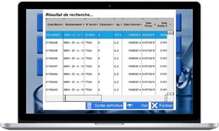 Visuel de la page de recherche du logiciel Sero'Box