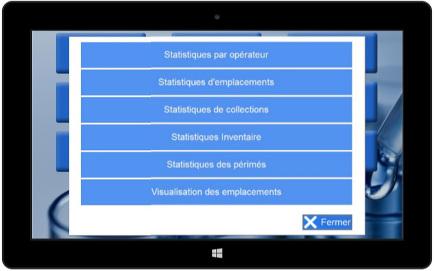 Visuel des statistiques du logiciel Sero'Box